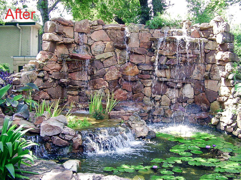 Image result for rock wall waterfall