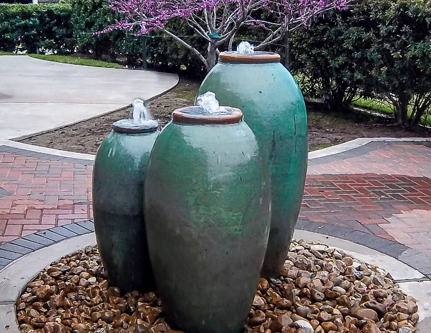 Vases and Crepe Myrtles